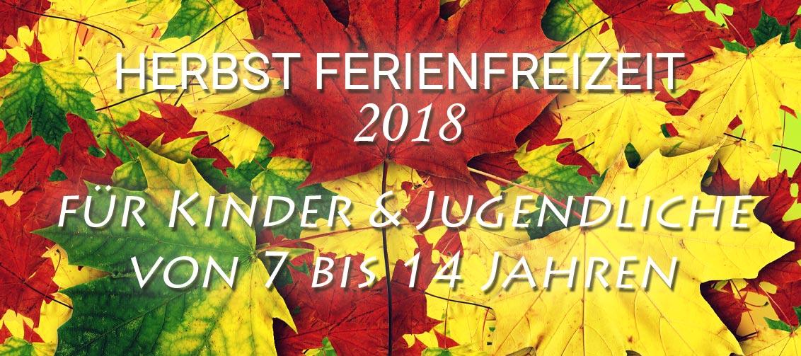 Herbst Ferienfreizeit 2018